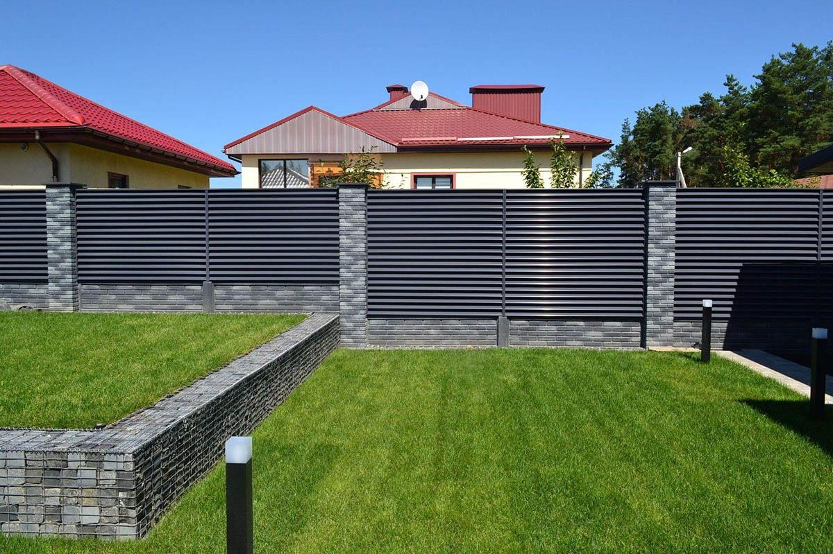 Забор-жалюзи RAL 7016 - Дроздово