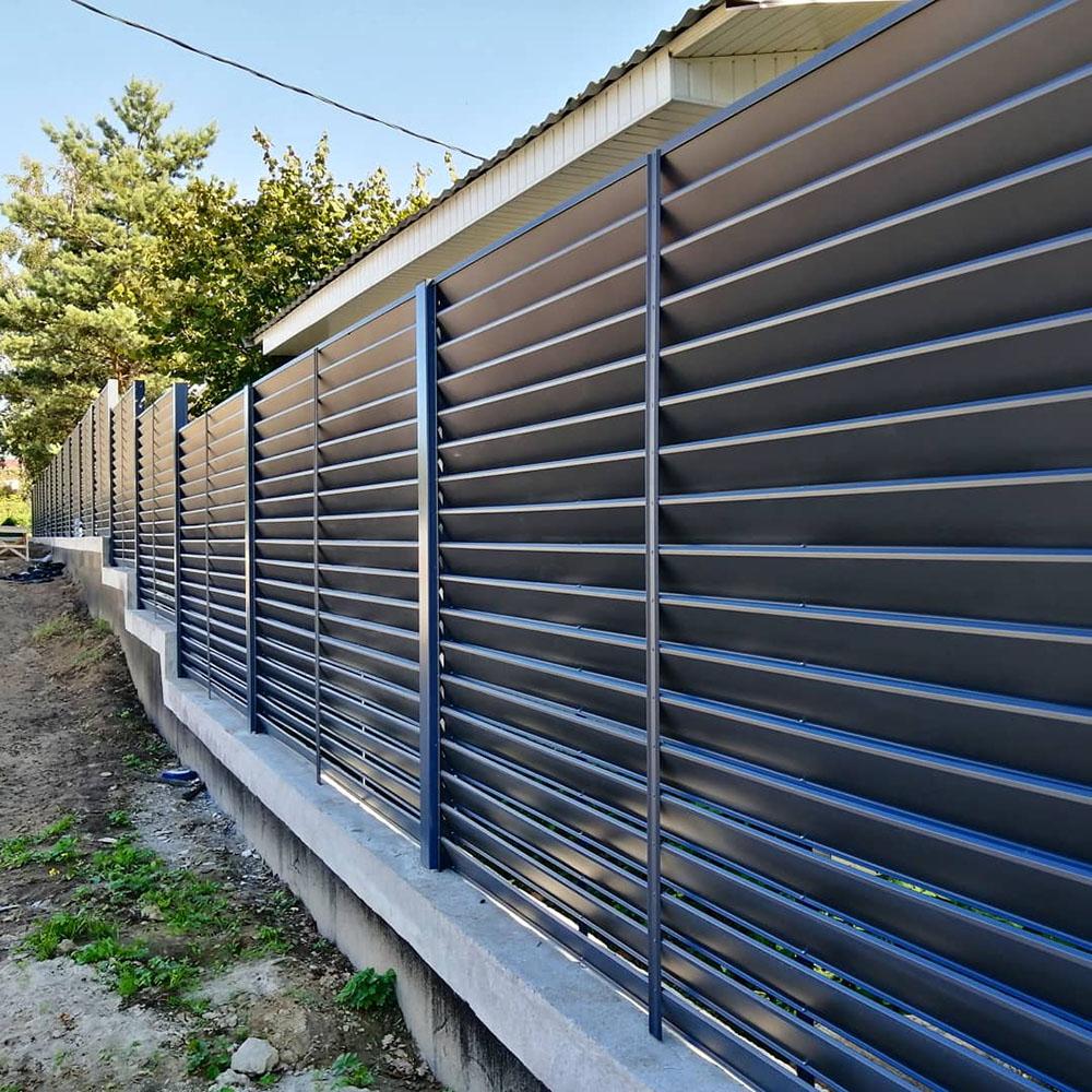 Забор-жалюзи глянец RAL 7016