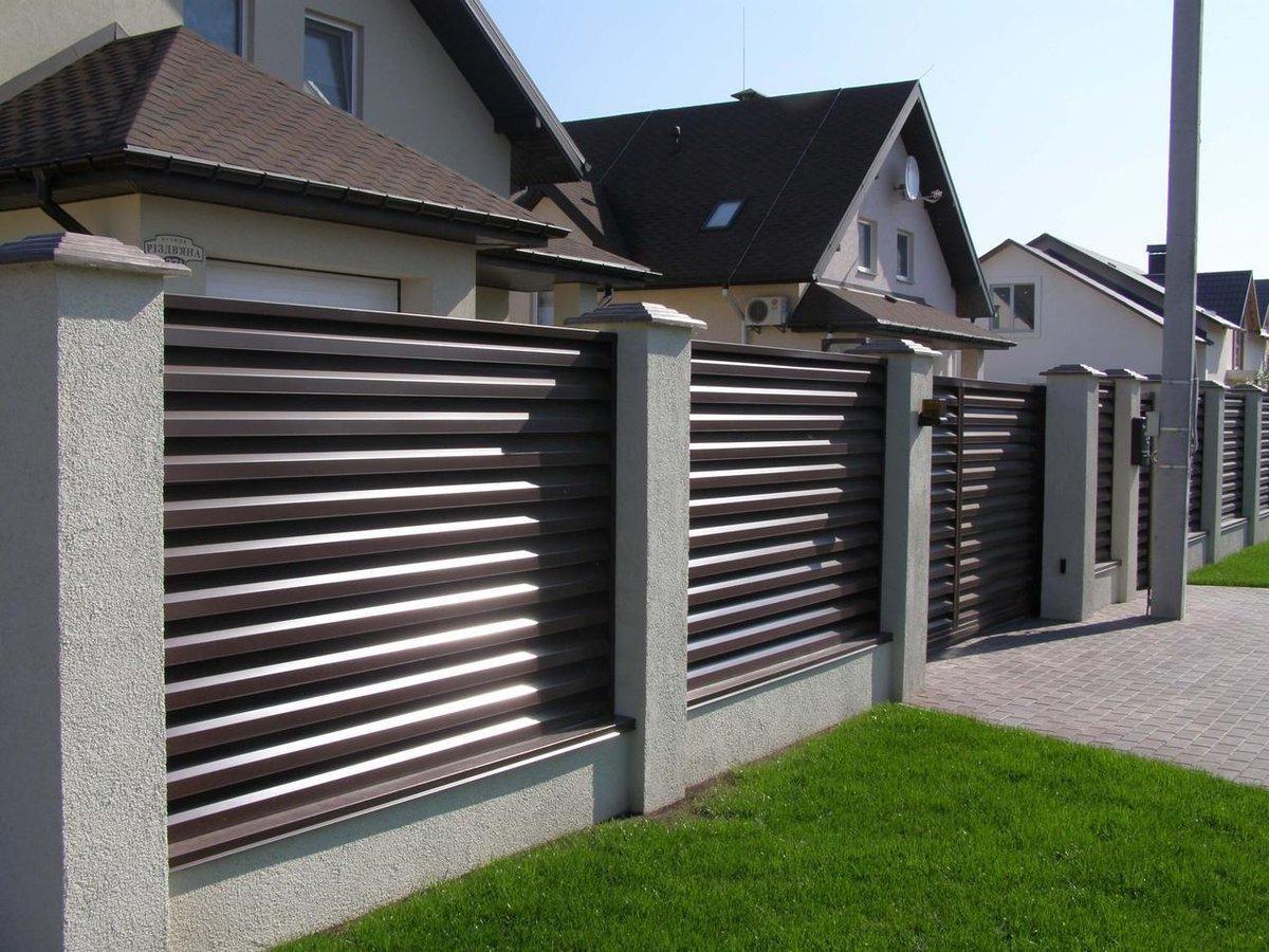Забор-жалюзи RAL 8017