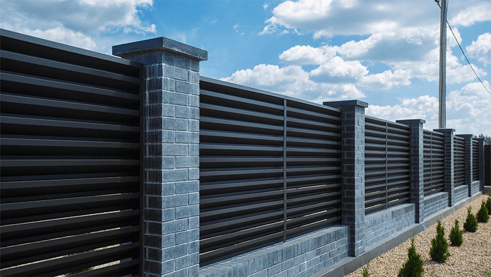Забор-жалюзи RAL 9005