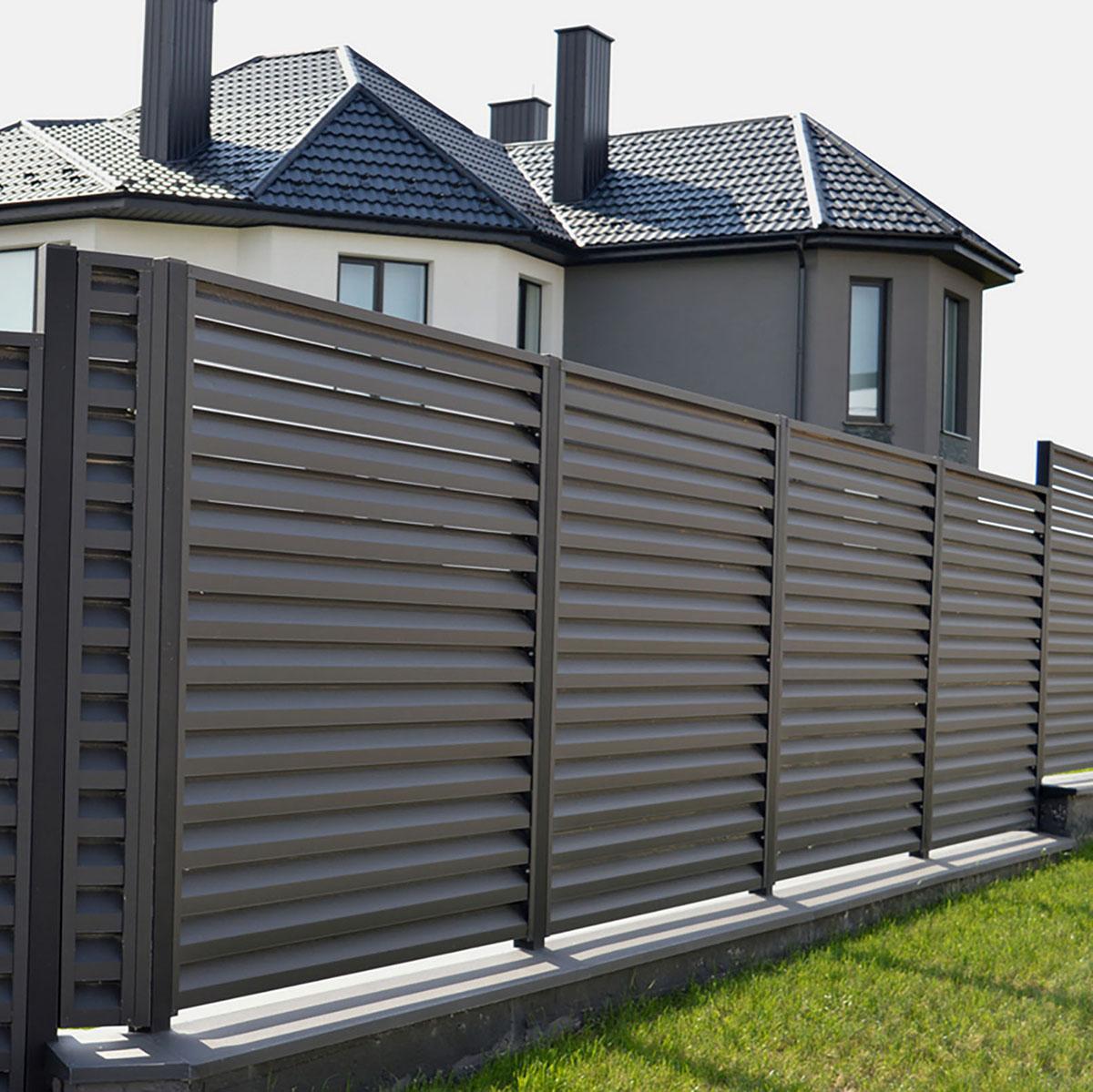 Забор-жалюзи RAL 8019
