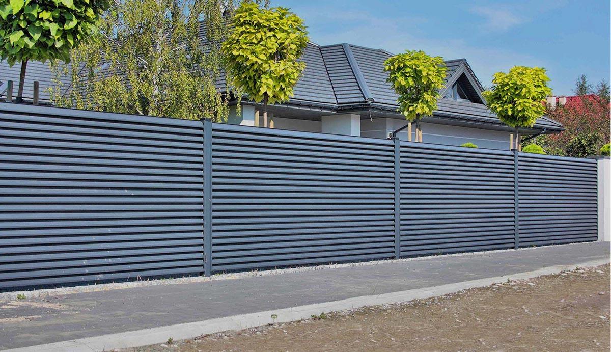 Забор-жалюзи RAL 7016